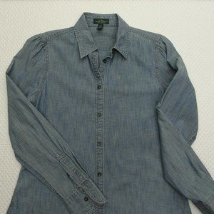 Women's Lauren Jeans Denim Shirt Sz M